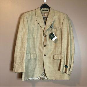 NWT! Lauren Ralph Lauren silk & wool blend blazer
